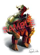Stock Art: Orc with armor white background