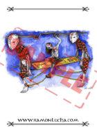 Image - Stock Art - Stock Illustration - Zombie Slaves - Girl -Gore