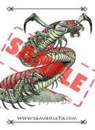 Image - Stock Art - Grayscale - Stock Illustration - rpg -Giant Centipedes - Mutant - Monster