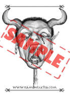 Image - Stock Art - Grayscale - Stock Illustration - Demon - Evil - dead