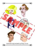 Image - Stock Art - Stock Illustration - Colonel - Doctor - Housekeeper - Investigator - Vampire - Sexy Girl