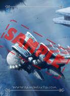 Image - Stock Art - Stock Illustration - Airport space -ship - City - Future -Underwater civilization