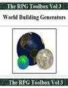 World Building Generators: The RPG Toolbox Vol 3