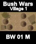 Village Map#1 BUSH WARS Series for all Modern Skirmish Games Rules