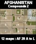 Compounds Maps #2 Afghanistan Series  for All Modern Skirmish Games Rules