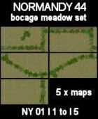 Bocage/Meadow Set Maps #14 to #18 NORMANDY 44 Series for all WW2 Skirmish Games Rules