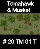 Wood #20 TOMAHAWK & MUSKET Series for Skirmish rules