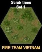 FTV Boards Scrub Trees SET #1 for Fire Team Vietnam