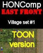 HONComp EAST FRONT Village Set #1 Toon Version