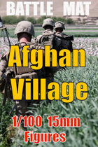 BATTLE MAT 3 ; Afghan Village Green Zone for 15mm - 1/100