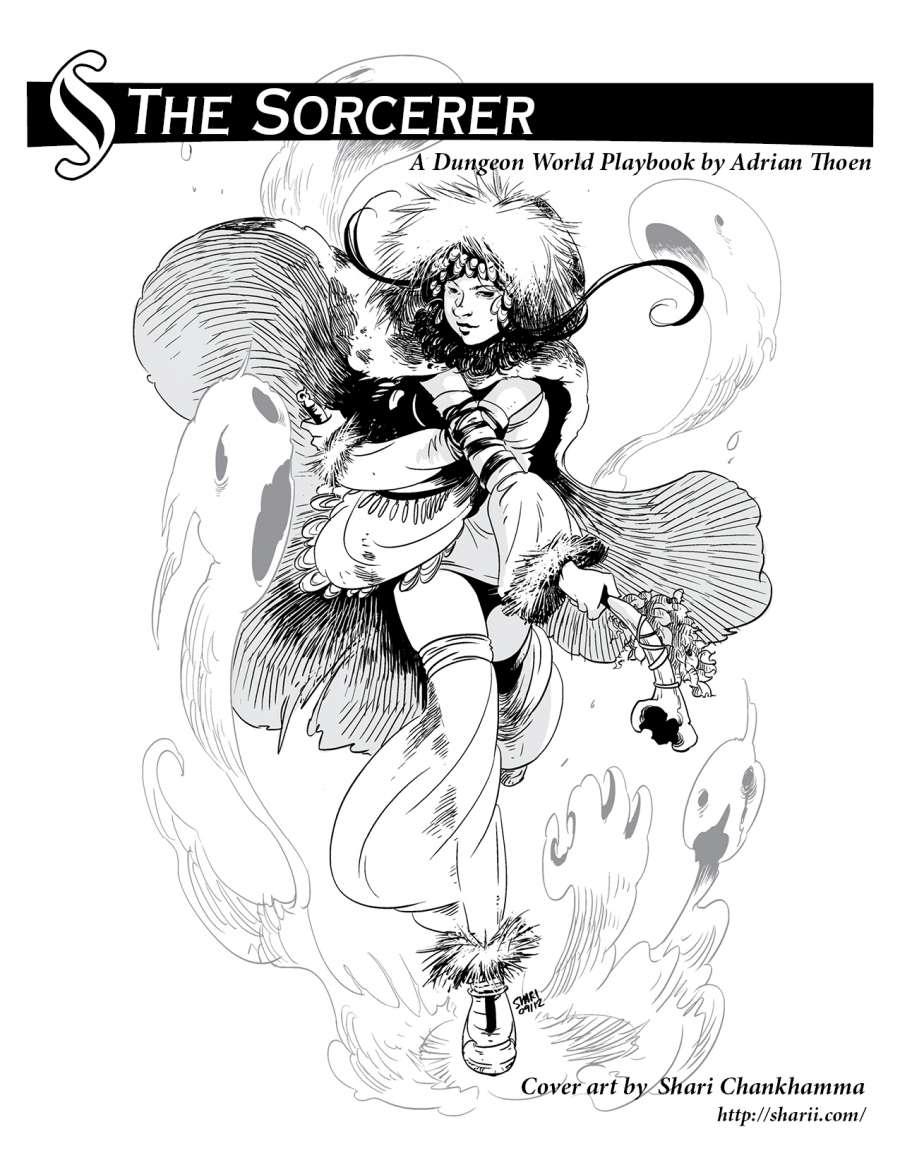 The Sorcerer - A Dungeon World Playbook - Adrian Thoen | DriveThruRPG com