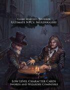Ultimate NPCs: Skulduggery Swords & Wizardry Character Cards Low Level