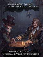 Ultimate NPCs: Skulduggery Swords & Wizardry Generic NPC Cards