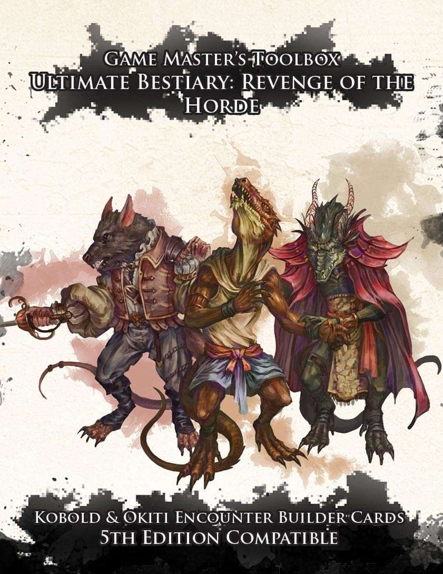 Ultimate Bestiary: Revenge of the Horde - Kobolds and Okiti Encounter Deck  (5E) - Nord Games | DriveThruRPG com