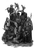 Art Stock 10 grayscale Fantasy scenes