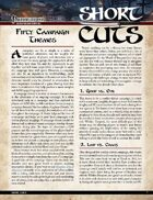 Pathfinder Short Cuts: Fifty Campaign Themes