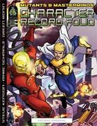 Mutants & Masterminds Second Edition Character Record Folio