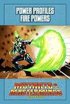 Mutants & Masterminds Power Profile #1: Fire Powers
