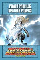Mutants & Masterminds Power Profile #6: Weather Powers