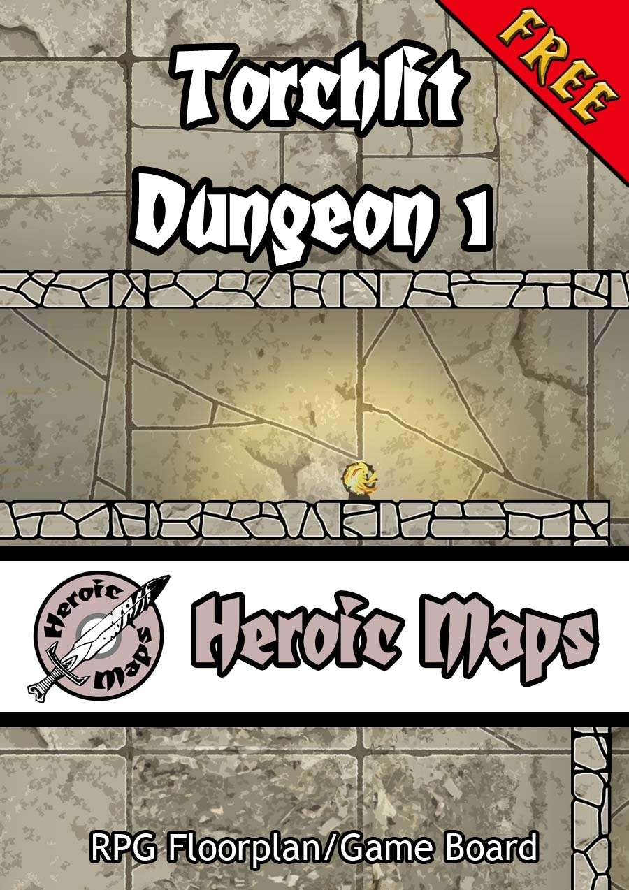 Heroic Maps: Torchlit Dungeon 1