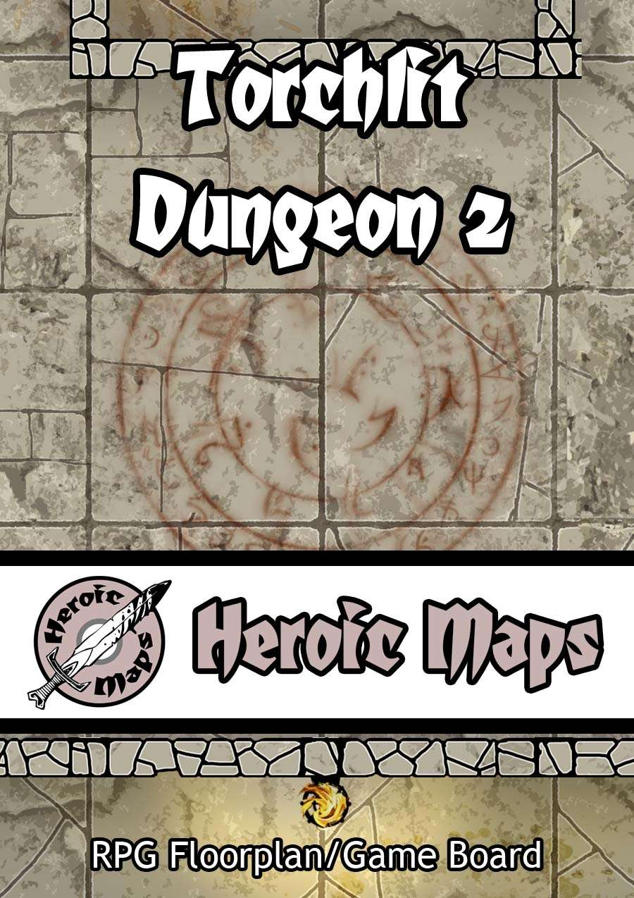 Heroic Maps: Torchlit Dungeon 2