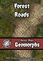 Heroic Maps - Geomorphs: Forest Roads