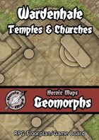 Heroic Maps - Geomorphs: Wardenhale Temples & Churches