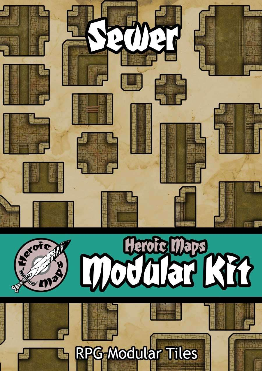 Heroic Maps - Modular Kit: Sewer