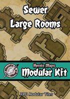Heroic Maps - Modular Kit: Sewer Large Rooms