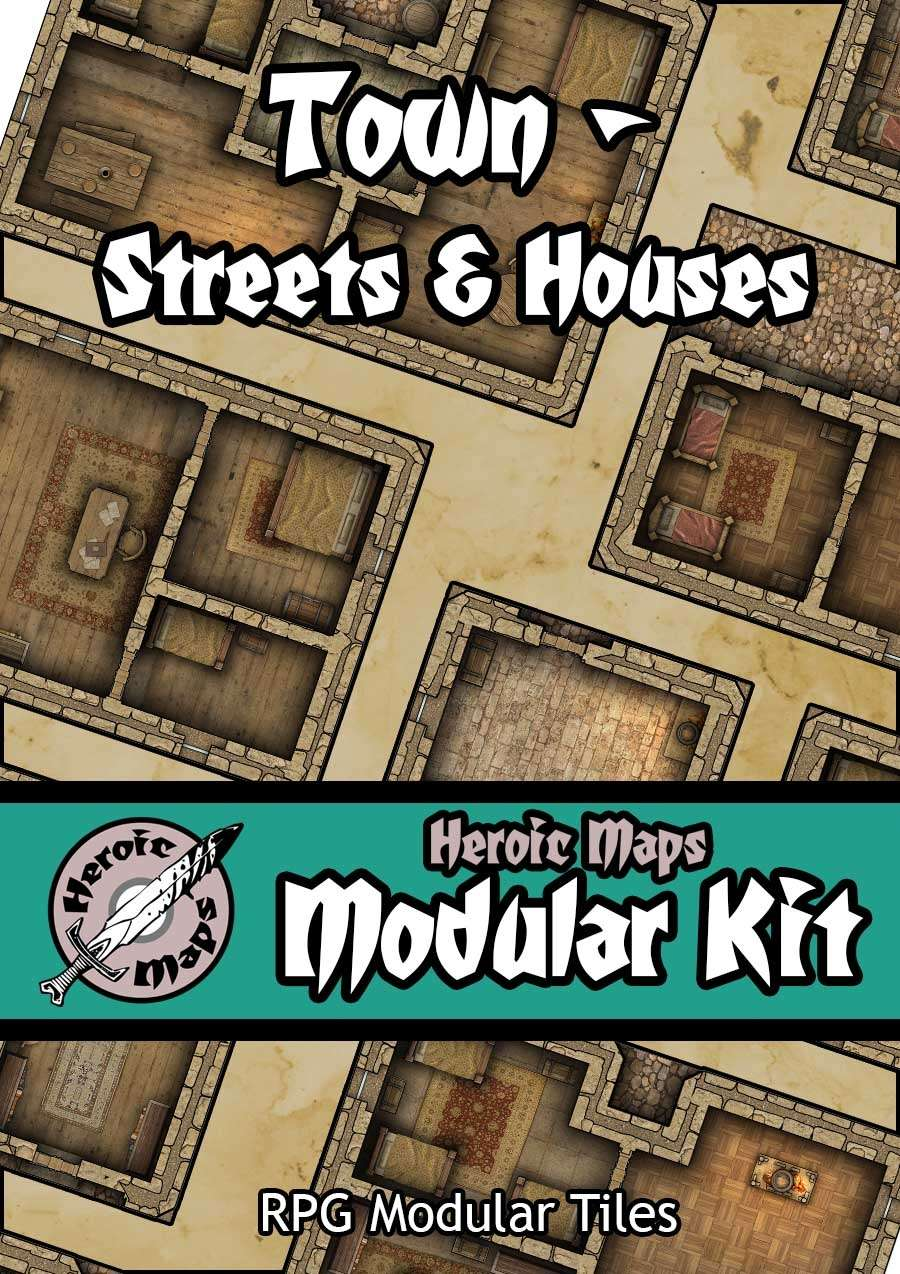 Heroic Maps - Modular Kit: Town - Streets & Houses