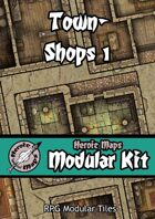Heroic Maps - Modular Kit: Town - Shops 1