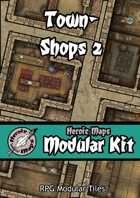 Heroic Maps - Modular Kit: Town - Shops 2