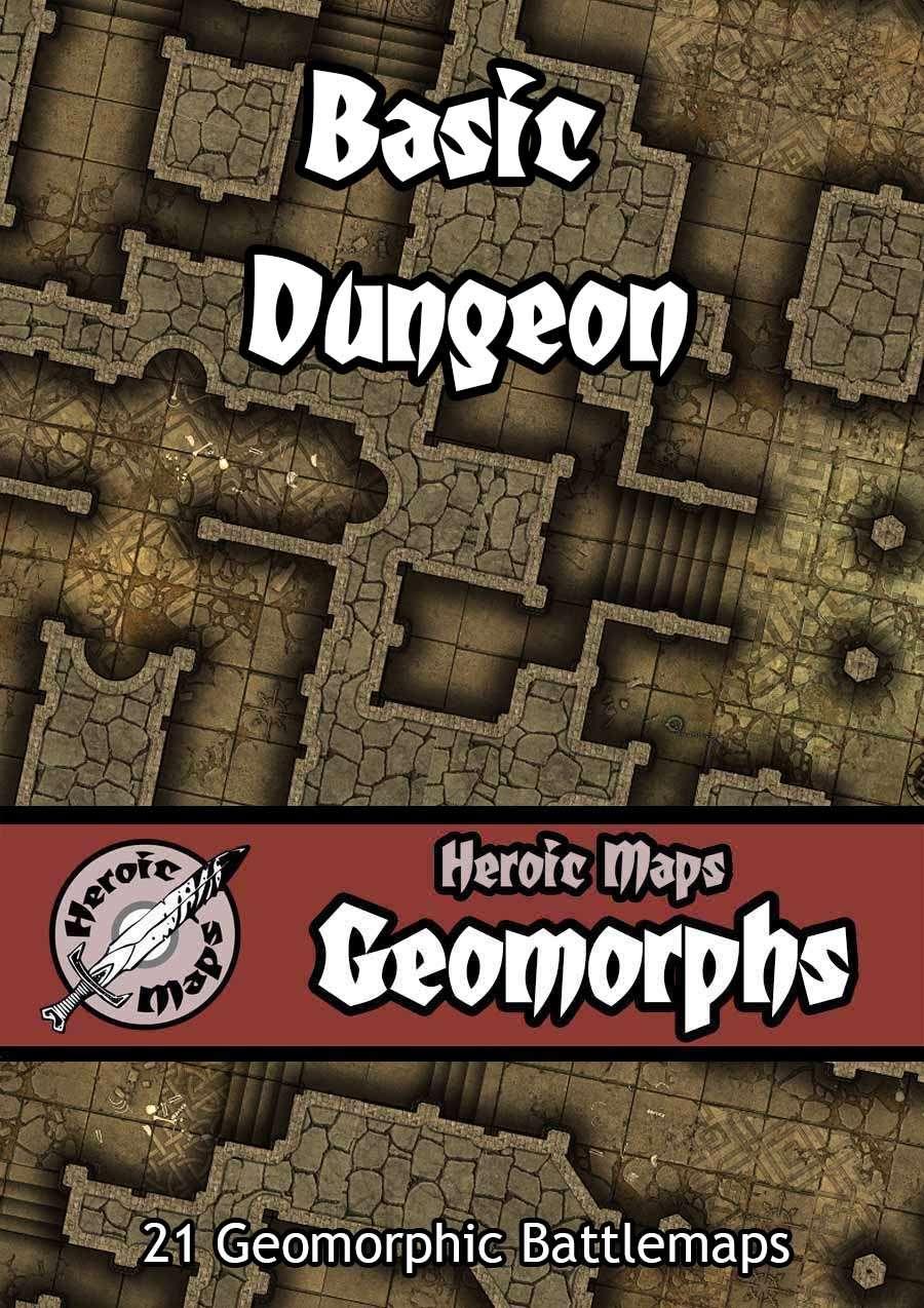 Heroic Maps - Geomorphs: Basic Dungeon