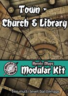 Heroic Maps - Modular Kit: Town - Church & Library