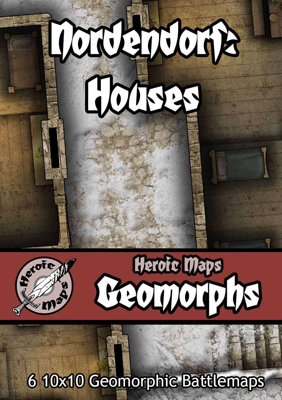 Heroic Maps - Geomorphs: Nordendorf - Houses