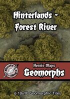 Heroic Maps - Geomorphs: Hinterlands Forest River
