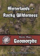 Heroic Maps - Geomorphs: Hinterlands Rocky Wilderness