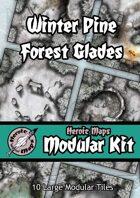 Heroic Maps - Modular Kit: Winter Pine Forest Glades