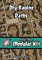 Heroic Maps - Modular Kit: Dry Ravine Paths