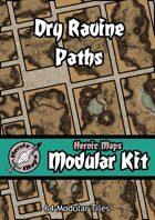 Heroic Maps - Modular Kit: Dry Ravine Paths
