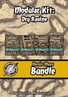 Heroic Maps - Modular Kit: Dry Ravine [BUNDLE]