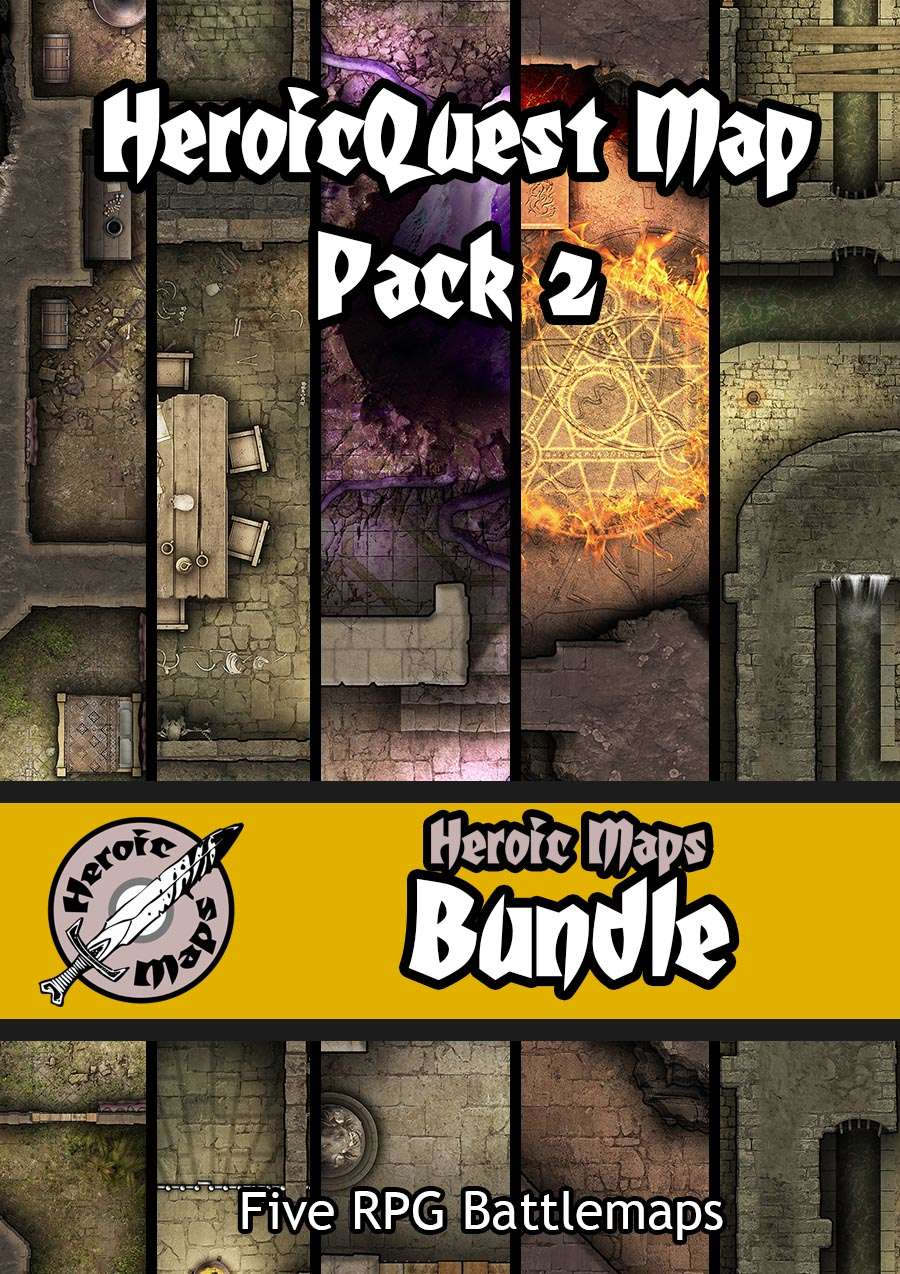 Heroic Maps - HeroicQuest Map Pack 2 [BUNDLE] - Heroic Maps | RPG Objects