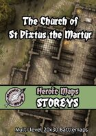 Heroic Maps - Storeys: The Church of St Pixtus the Martyr