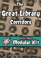 Heroic Maps - Modular Kit: The Great Library Corridors