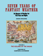 SEVEN YEARS OF FANTASY WEATHER Volume 2: The Iceland of the Sagas
