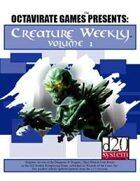 Creature Weekly Volume 1