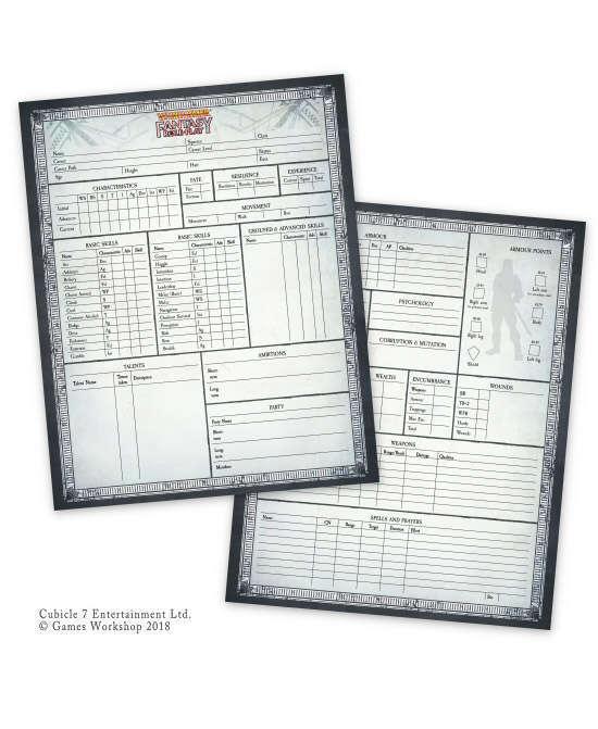 warhammer fantasy rpg 4th edition character sheet