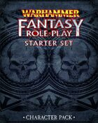 Warhammer Fantasy Roleplay Fourth Edition Starter Set Character Pack