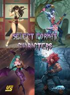 Select Format Characters - Street Fighter vs Darkstalkers