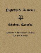 Nightshade Academy : Student Record